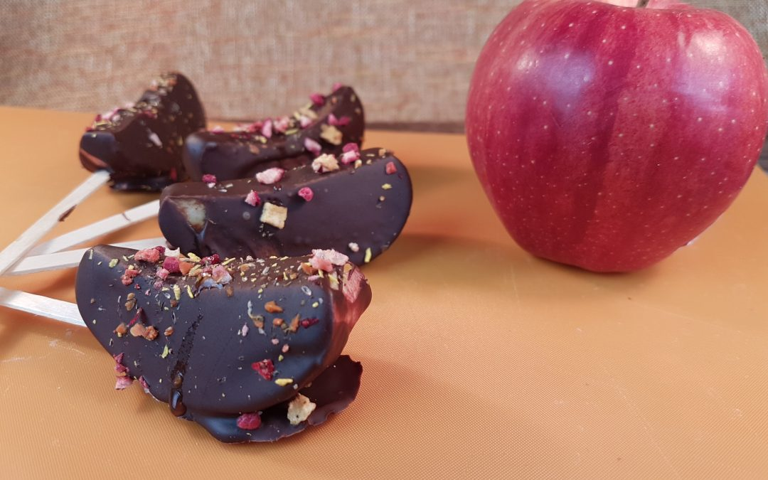 Chocolate Covered Apple Slices – Gluten-Free, Vegan