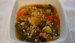 Barley and Lentil Soup with Swiss Chard