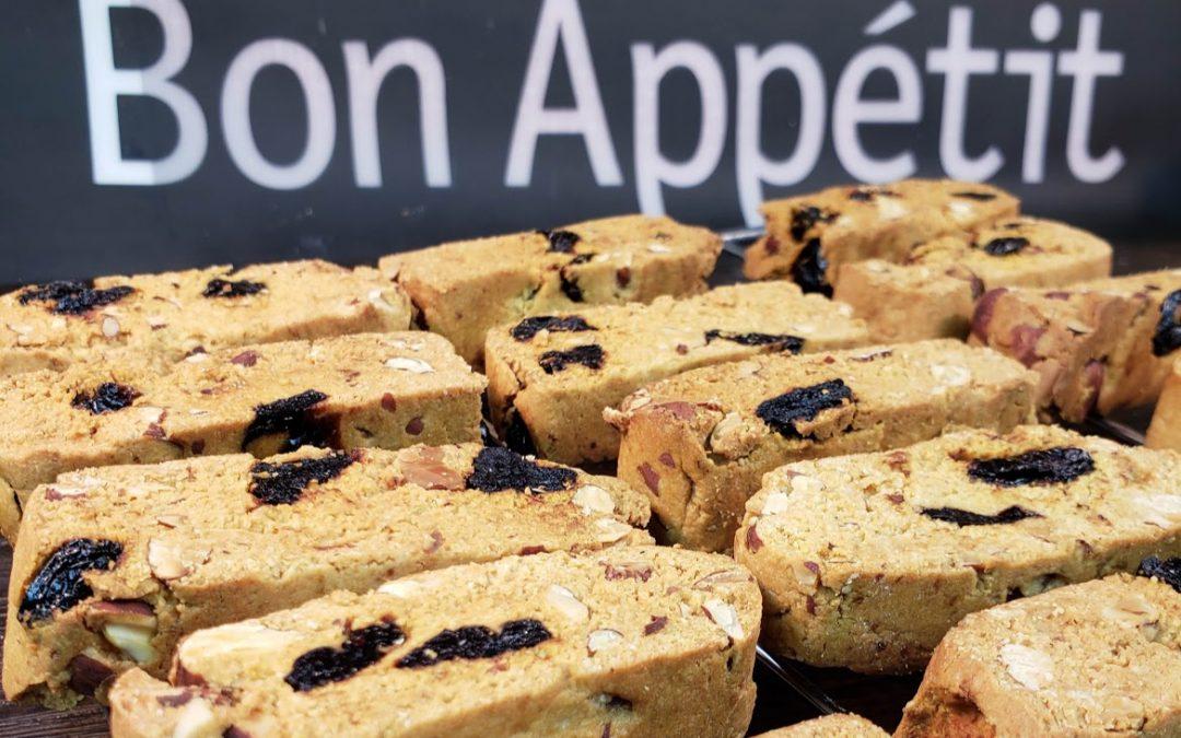 Cranberry Almond Biscotti – Gluten-free, Vegan