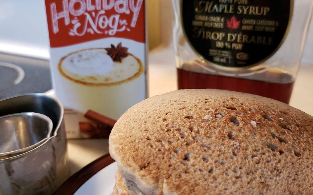 Eggnog Pancakes – Gluten-free, Vegan